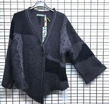 BOHEMIA Svezia grigio misto lana asimmetrico allentato maglione cappuccio collo goccia spalla