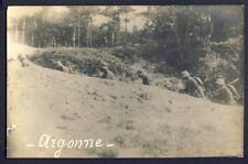 Carte Photo Guerre WAR WW1 1914-1918 TRANCHÉE SOLDATS MILITAIRES ARGONNE