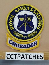 VINTAGE ROYAL AMBASSADOR WITH CRUSADER LOWER ROCKER CHRISTIAN BOYS CLUB PATCH