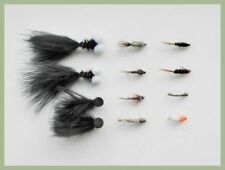 12 Mixed Fishing flies perfect for a washing line rig, 8 Varieties, Mixed Size