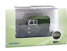 """Oxford Diecast - 1956 Land Rover Series I 88"""" Canvas """"Plimsoll"""" green 1/43"""