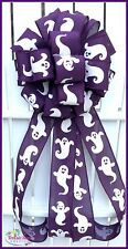 Purple White Halloween Ghost Bow, Gift Package Bow, Party Bow
