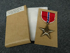 Original WWII Bronze Star Medal Unissued in Original 1945 Dated Box