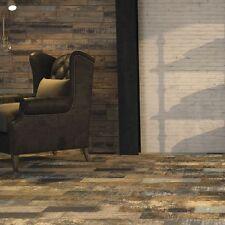 Cut down sample of kunny vintage wood effect ceramic floor tiles 17.5 x 50cm