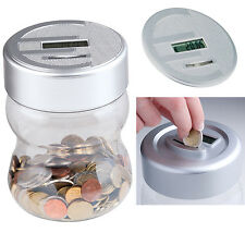 Spardose LCD Display mit Zählwerk Münzzähler Sparschwein Geldkassette Sparbüchse
