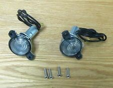 1956 CHEVY LICENSE PLATE TAG LIGHT ASSEMBLY , NEW pair with bulbs and hardware