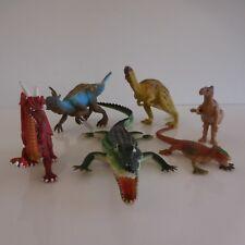 6 statuettes figurines crocodiles dinosaures