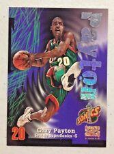 GARY PAYTON 1997-98 Z-FORCE RAVE INSERT BASKETBALL CARD #008/399 HOF SUPERSONICS