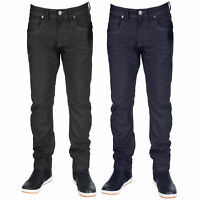 Mens Crafted Denim Jeans Crosshatch Slim Fit Trousers Menzo Stretch Pants New