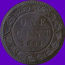 1881 'H' Canada 1 Cent Coin