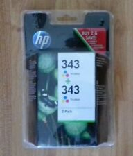 HP 343 C8766EE TRI COLOUR + 343 C8766EE TRI COLOUR, CB332EE, 2 PACK, INK. NEW