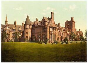 Cambridge Girton College photochrome print ca. 1890