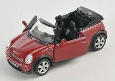 BLITZ VERSAND Mini Cooper S Cabrio rot / red Welly Modell Auto 1:34-39 NEU & OVP