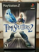 TimeSplitters 2 PlayStation 2 PS2 Complete, CIB, Black Label, Tested & Working