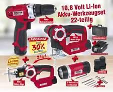 Akku-Werkzeug-Set 10,8 Volt Li-Ion:Akku-Bohrschrauber,Akku-Multisäge+Akku-Lampe