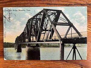 Great Eads Bridge, Memphis, Tennessee TN - 1910 Vintage Postcard