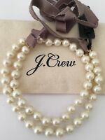 NWT J.CREW Authentic Ribbon-tied long pearl necklace