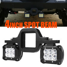 "2PCS 4"" 18W LED Backup Reverse Spot Light+Tow Hitch Mount Bracket 4WD SUV Truck"