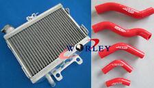 For Honda CR125R CR125 98 99 1998 1999 aluminum radiator & silicone hose red