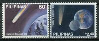 Philippines 1986 MNH Halleys Halley's Comet 2v Set Astronomy Space Stamps