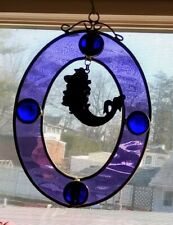 Vintage Stainglass With Mermaid In Pewter