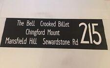 "London Bus Blind 60 42"" 215 Crooked Billet Mansfield Hill Sewardstone Road Ching"