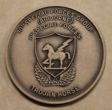 10th SFG Airborne 1st Special Forces 1980s Green Enamel Army Challenge Coin