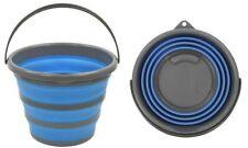 IWH Eimer Faltbar rund 10 Liter Blau/grau