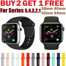 Silicone Band Bracelet Strap Sports Bands For Apple Watch iWatch Series 1 2 3 45