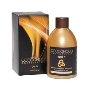 COCOCHOCO GOLD BRAZILIAN KERATIN TREATMENT BLOW DRY HAIR STRAIGHTENING 250ML