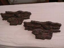 "2004 WMG 19"" Decorative Plastic Stone Shelves, Set of 2"