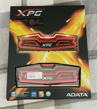 ADATA XPG Dazzle 64 GB DDR4 3000 MHz CL16 LED Memory (4x16GB) - Red ( Brand New)
