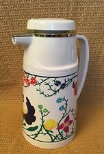Floral Design Insulated Vacuum Pitcher/Thermos, Gently Used, Excellent Condition