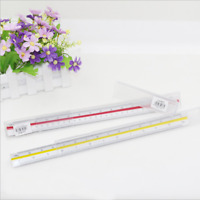 300mm 1:25~1:125 Triangular Metric Scale Ruler For Engineer  Multicolor