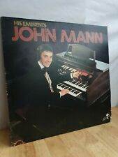 John Mann His Eminents 12 Inch Vinyl Record Album