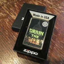 Zippo 218 DRAIN THE SWAMP *RARE* Donald Trump Repbulican GOP Lighter