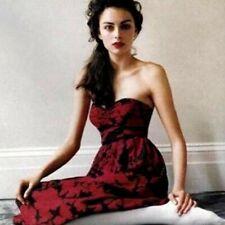 TIBI Anthropologie Red Ink Sweetheart Silk Bustier Dress XS
