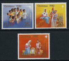 1982 FIJI CHRISTMAS SET OF 3 FINE MINT MNH/MUH