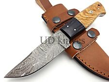 UD CUSTOM MADE FIXED BLADE 1095 DAMASCUS ART HUNTER FULL TANG SKINNER KNIFE 371