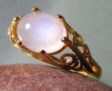 Latón chapado en oro anillo de diaria de Arco Iris Reino Unido M 1/2 - 3/4/6.75 EE. UU.