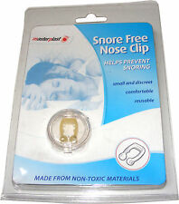 SNORE FREE NOSE CLIP ANTI STOP SNORING AID CONGESTION RELIEF - SMALL & DISCREET