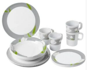 Melamine 16 Piece set Breakfast Set - Brunner