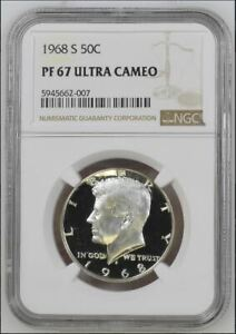 1968-S NGC PF67 Ultra Cameo Proof Silver Kennedy Half Dollar
