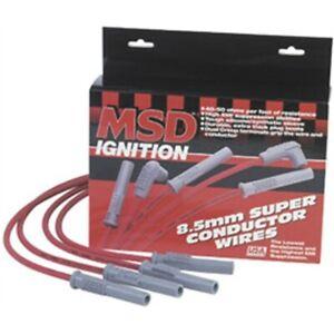 MSD 31189 Super Conductor Plug Wires, Multi-Angle Plug, HEI Cap