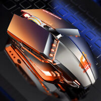 2.4GHz Wireless Mouse LED Backlit 1600DPI Optical USB Gaming Mice for PC Laptop