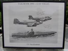 Tailhook 1991 Framed Poster Military Aviation Sexual Scandal Signed