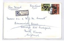 BQ158 1971 Jamaica Kingston Devon Great Britain Airmail Cover {samwells}PTS