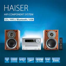 HAISER ® HSR 117 Kompakt HiFi System Bluetooth USB CD MP3 Radio Fernbedienung