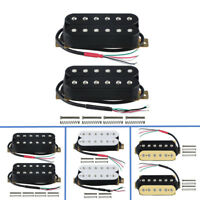 US Set of Double Coil Humbucker Ceramic Electric Guitar Neck + Bridge Pickup