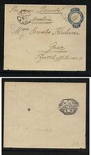 Brazil postal envelope to Austria 1896 Ms0828